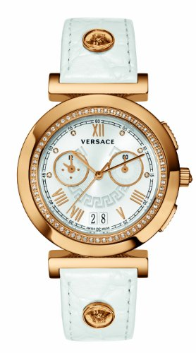 Versace Women's VA9070013 Vanity Chrono Rose Gold Ion-Plated Stainless Steel Watch With Diamonds