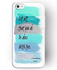UKASE Cases For Apple iphone 6 plus with the Fashion Illustration Picture of Let all that You Do Be Done with Love