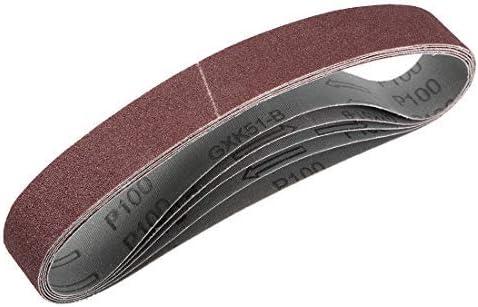 1.2 inch X 21 inch sanding belt 100 grain aluminum oxide sand belts 5 pieces