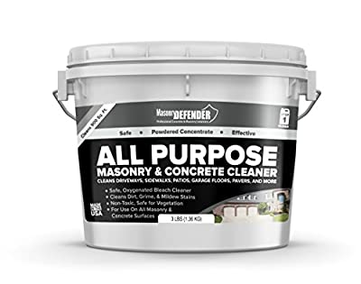 All-Purpose Masonry & Concrete Cleaner, 3 LB Pail - Cleans Driveways, Sidewalks, Patios, Garage Floors, Pavers & More