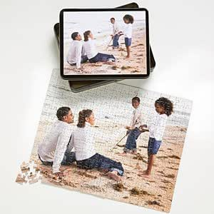 Personalized Photo Jigsaw Puzzle with Keepsake Tin - Horizontal