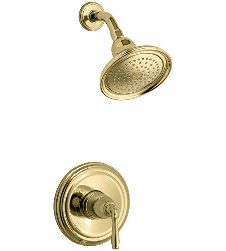 - KOHLER TS396-4-PB Devonshire(R) Rite-Temp(R) shower valve trim with lever handle and 2.5 gpm showerhead, 11.75 X 8.00 X 6.25