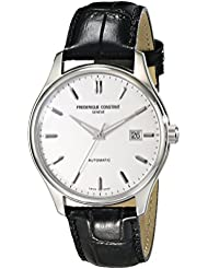 Frederique Constant Mens FC303S5B6 Index Analog Display Swiss Automatic Black Watch
