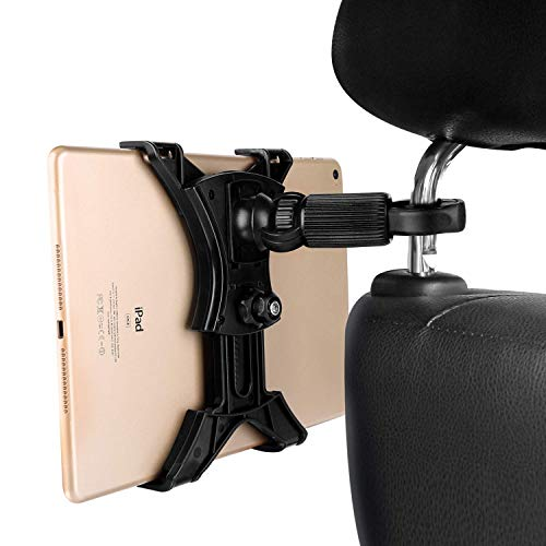 MAYOGA Car Headrest Mount Tablet Holder, Universal Tablet Mount Backseat Stand Clamp Car Mount Holder 360° Rotation Adjustable Tablet Stand Lazy Bracket for iPad, iPad Air/Mini, Samsung Galaxy 7