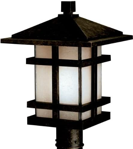 Kichler 9529AGZ, Cross Creek Cast Aluminum Outdoor Post Lighting, 150 Total Watts, Aged Bronze