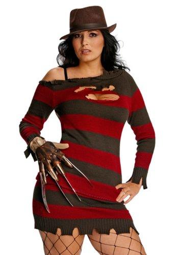 Plus Plus Plus Größe Damen Sexy Miss Frotdy Krueger Kostüm e9fe30