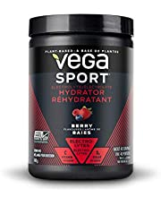 Vega Sport Electrolyte Hydrator Berry (40 Servings, 5.2oz) - Keto-Friendly, Gluten Free, Non Dairy, Vegan, Sugar Free, Non GMO (Packaging May Vary)