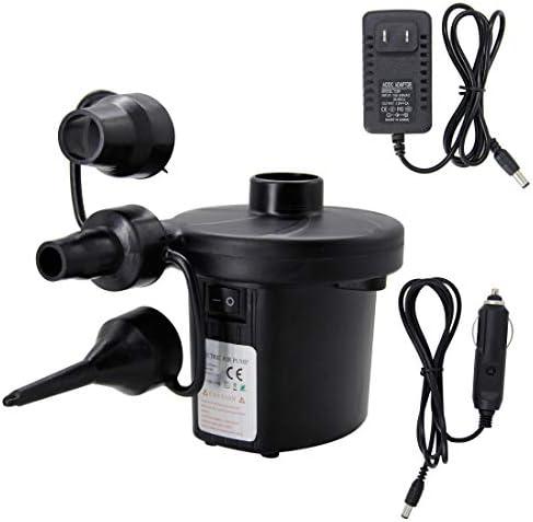 [해외]MorTime 퀵-필 전기 공기 펌프 110V AC 및 12V DC 담배 어댑터가 있는 휴대용 팽창기 및 디플래터 펌프 수영장 플로트 래프트 장난감용 노즐이 있는 펌프스 블랙 / MorTime 퀵-필 전기 공기 펌프 110V AC 및 12V DC 담배 어댑터가 있는 휴대용 팽창...