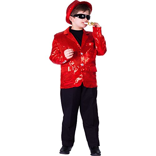 (Kids Red Sequin Jacket - Size Extra)
