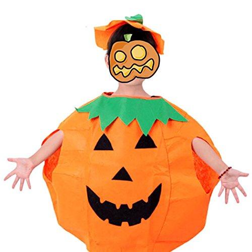 T-Dream Halloween child custom Pumpkins Boys/Girls Clothes Sets Orange 10-12years (12 Year Old Boys Halloween Costumes)