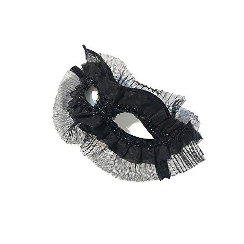 TONGSH Masquerade Mask Venetian Lace Cosplay Mask for Halloween Masquerade Costume Party