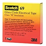 3M ELECTRICAL 500-10083 Scotch Glass Cloth Electrical Tapes 69, White, 0.75'' Wide, 66 yd. Length, White