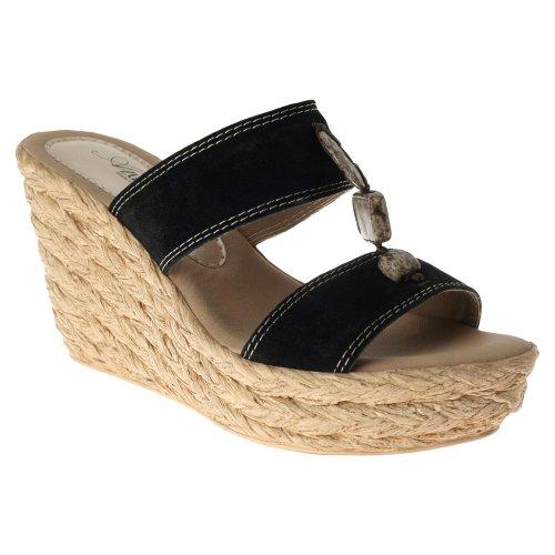Azura Dames Harvard Sandalen Zwart