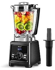 Blender Decen Smoothie Blender 2000W 35000RPM Blender Professionnel, Mixeur Multifonction 2L Jarre Tritan Sans BPA, 6 Lames Recouvertes de Titane, Éclairage LED, Noir
