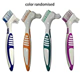 denture toothbrush Denture Toothbrush Fake Toothbrush Denture Cleaning Toothbrush Abs Waterproof Portable To Reduce Bleeding Gums