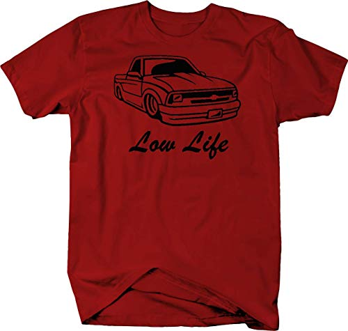 Pike Outdoors Low Life Lowered Chevy S10 Cowl Hood Xtreme Tshirt - XLarge