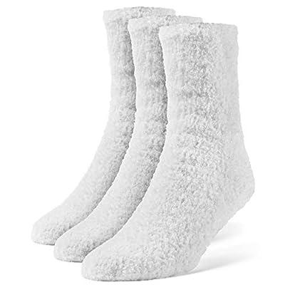Galiva Women's Fuzzy Crew Cozy Socks - 3 Pairs, Medium, Navy Blue at  Women's Clothing store