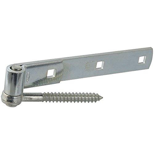 Gate Hardware Hinges (National Hardware N130-054 290BC Screw Hook/Strap Hinge Zinc Plated, 8