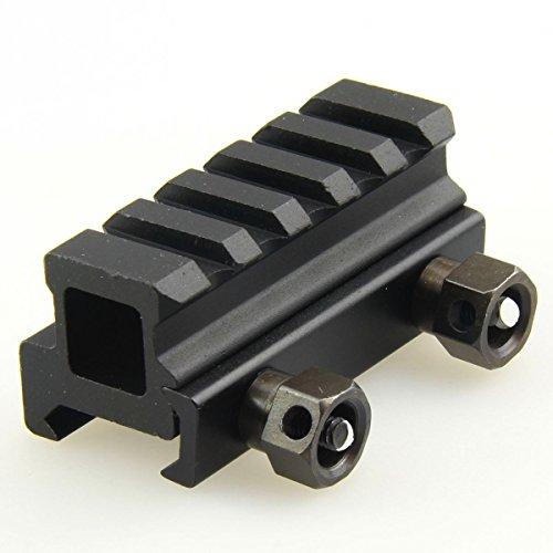 TACFUN 0.82 pulgada 5 ranuras Elevador mediano 20 mm PICATINAS DE TEJIDO Montaje de alcance transparente