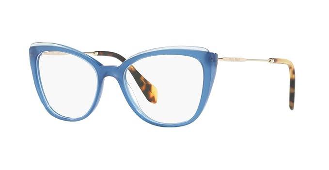 3a0c2757ad9 Miu Miu MU 02QV - VYC1O1 Eyeglass Frame Blue