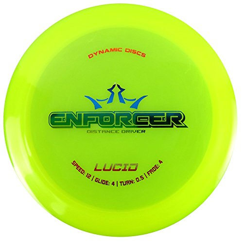 Dynamic Discs Enforcer Distance Driver Disc Golf - Lucid - Predictable and Overstable - Colors May Vary - 170-172 Grams
