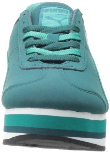 Puma Dames Roma Gestapeld Lace-up Mode Sneaker Diepblauw / Blauw Gras