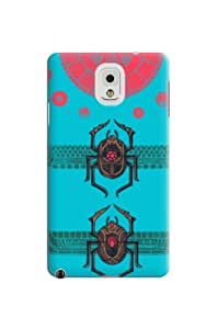 Case Cover Professional Special Bug Pattern Blue Hard Skin Protective Case Cover For Samsung Galaxy Note3