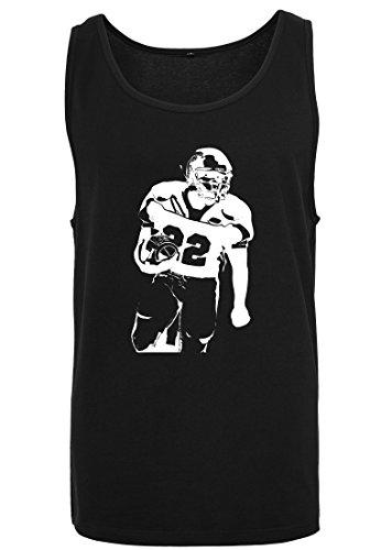 Black Football T Homme Tank shirt Spieler Débardeur Jersey Big Sans Shirt 2store24 Muscle Manches SgUWnxEO