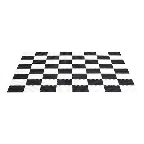 MegaChess Garden Checkers Game Board - Plastic - Garden Size by MegaChess