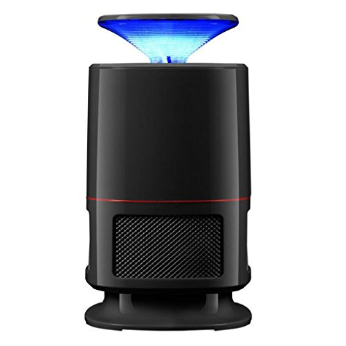 LIXIGB Electronic Mosquito Killer Bug Zapper - USB Powered 4th Gen Non-Toxic LED Mosquito Trap lamp, Bug Zapper with Eco-Friendly for Indoor Outdoor Use (Black) (Color : Black)