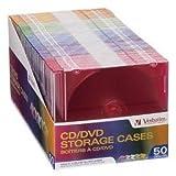 Verbatim CD/DVD Slim Case, Assorted Colors, 50/Pack