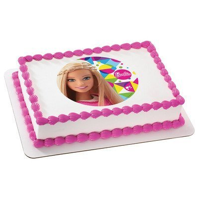 Amazon Barbie Sparkle Licensed Edible Cake Topper 36899