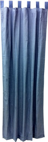 Tadpoles Double Sided Tab Top Single Curtain Panels, Navy, - Top Gingham Basics Tab