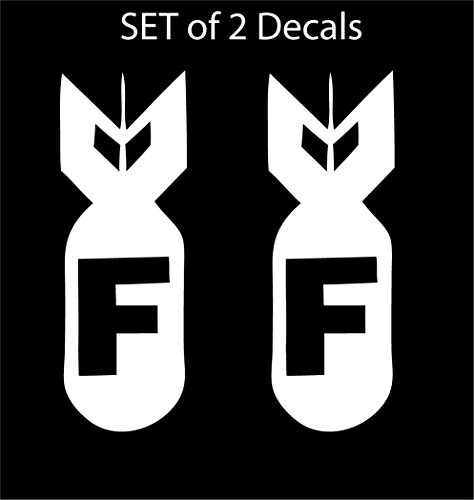 Set of 2 - JDM Advan F Bomb - Vinyl Decal Sticker / 6