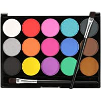 Face Paint Kit for Kids and Adults 12 Colors Professional Water Based Paints Halloween Cosplay Makeup Kit Face & Body Paints Palette