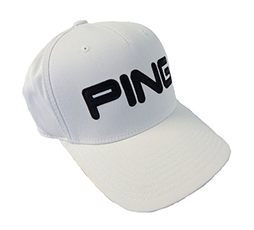 - Ping Mens Ping tour Structured Men's Hat, White/black S/M, Small/Medium