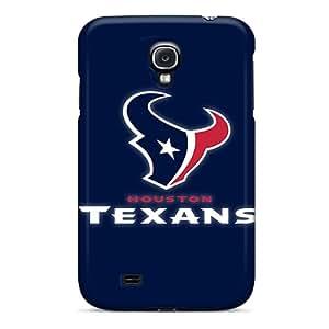 Samsung Galaxy S4 QAa10776HkRY Custom Vivid Houston Texans 3 Pictures Bumper Hard Cell-phone Cases -DrawsBriscoe
