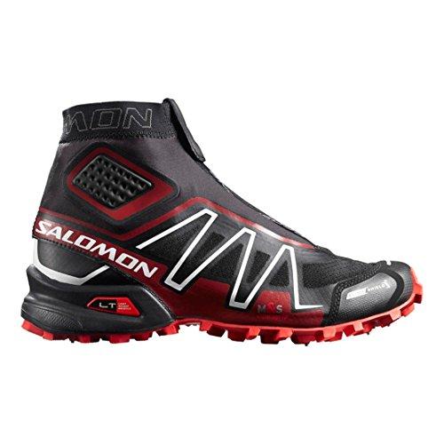 Salomon L39013500, Zapatillas de Trail Running Unisex Adulto Negro (Black /     Radiant Red /     White)