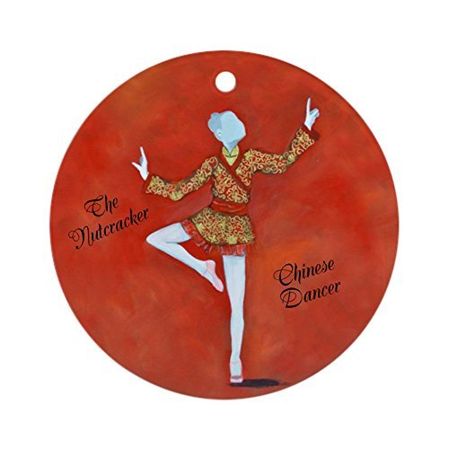 Louis Chinese Dancer (The Nutcracker) 3 inch Round Holiday Christmas Ornament 3 Pack Nutcracker Ornaments