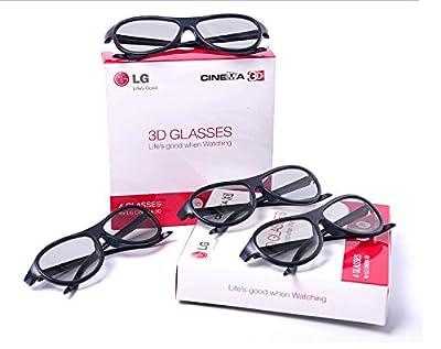 3d Glasses Eyewear Polarized Passive Glasses for Lg Cinema Ag-f310 ?Pack of 4?