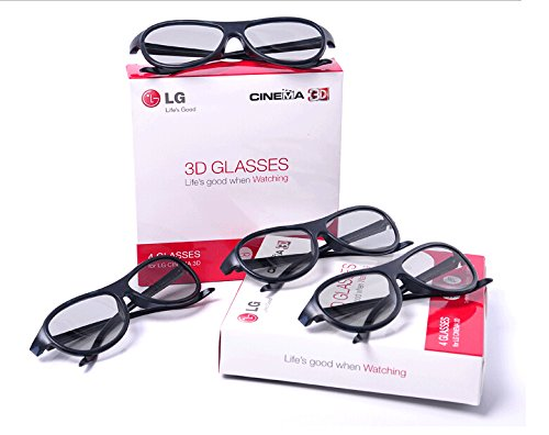 3d Glasses Eyewear Polarized Passive Glasses for Lg Cinema Ag-f310 (Pack of 4)