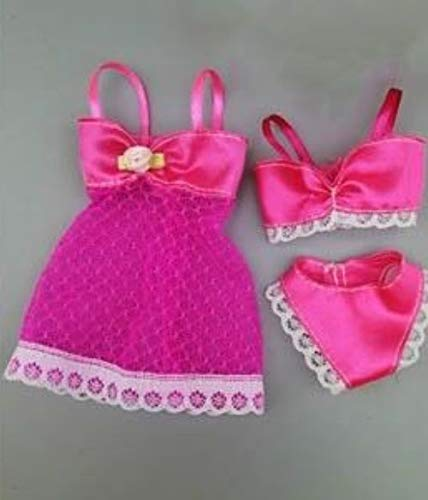 For Barbie Lingerie Set 3 Pieces Jacket Bra And Panties Satin And Lace 5 For Barbie Clothes