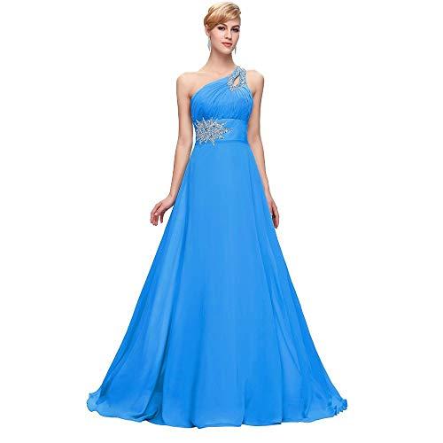 ccd4701b0d12 Una Dimensione Rosa Da Fengbingl Spalla Femminile Sera Blu Sottile Vestito  Abito Us14 colore xB4vTqwY
