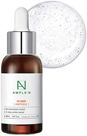 [AMPLE:N] VC Shot Ampoule 1.01 fl. oz. (30ml) - Vitamin C Brightneing & Moisturizing Ampoule for Tired Skin, Real Vitamin Brightening for Radiant and Youthful Skin