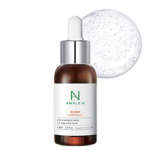 [AMPLE:N] VC Shot Ampoule 1.01 fl. oz. (30ml) - Vitamin C Brightneing & Moisturizing Ampoule for Tired Skin, Real Vitamin Brightening for Radiant and Youthful Skin (Best Face Serum For 30 Year Old)