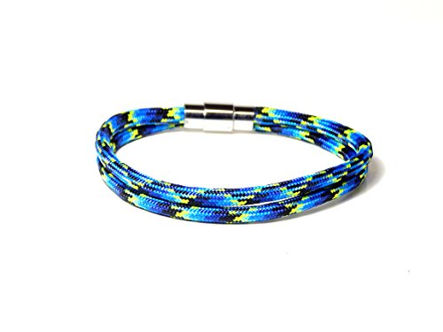 Double Strand Paracord Bracelet Locking Magnetic Stainles...