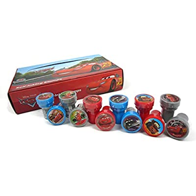 Disney Pixar Movie CARS Stampers Box: Stamp Art Set (24 pcs): Office Products
