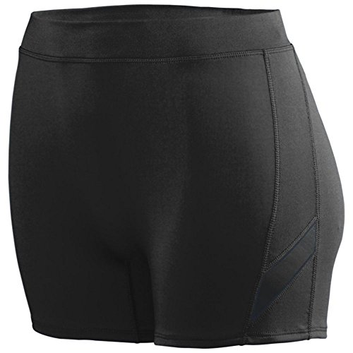 Augusta Athletic Ladies Stride Short, Black/Black, Small by Augusta Athletic
