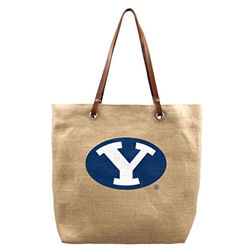 NCAA BYU Cougars Burlap Market - Young University Fabric Brigham