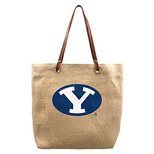 NCAA BYU Cougars Burlap Market - Fabric Young University Brigham